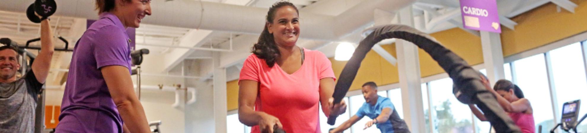 Sesión entrenamiento en AnyTime Fitness
