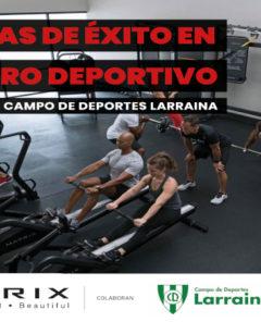 Poster acto Palancas del éxito en un centro deportivo
