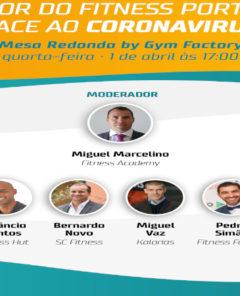 Poster Mesa Redonda Gym Factory Portugal Activo Covid-19